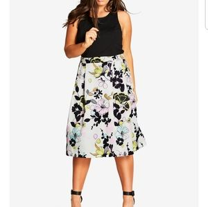 city chic trendy flower dress fit and fl…